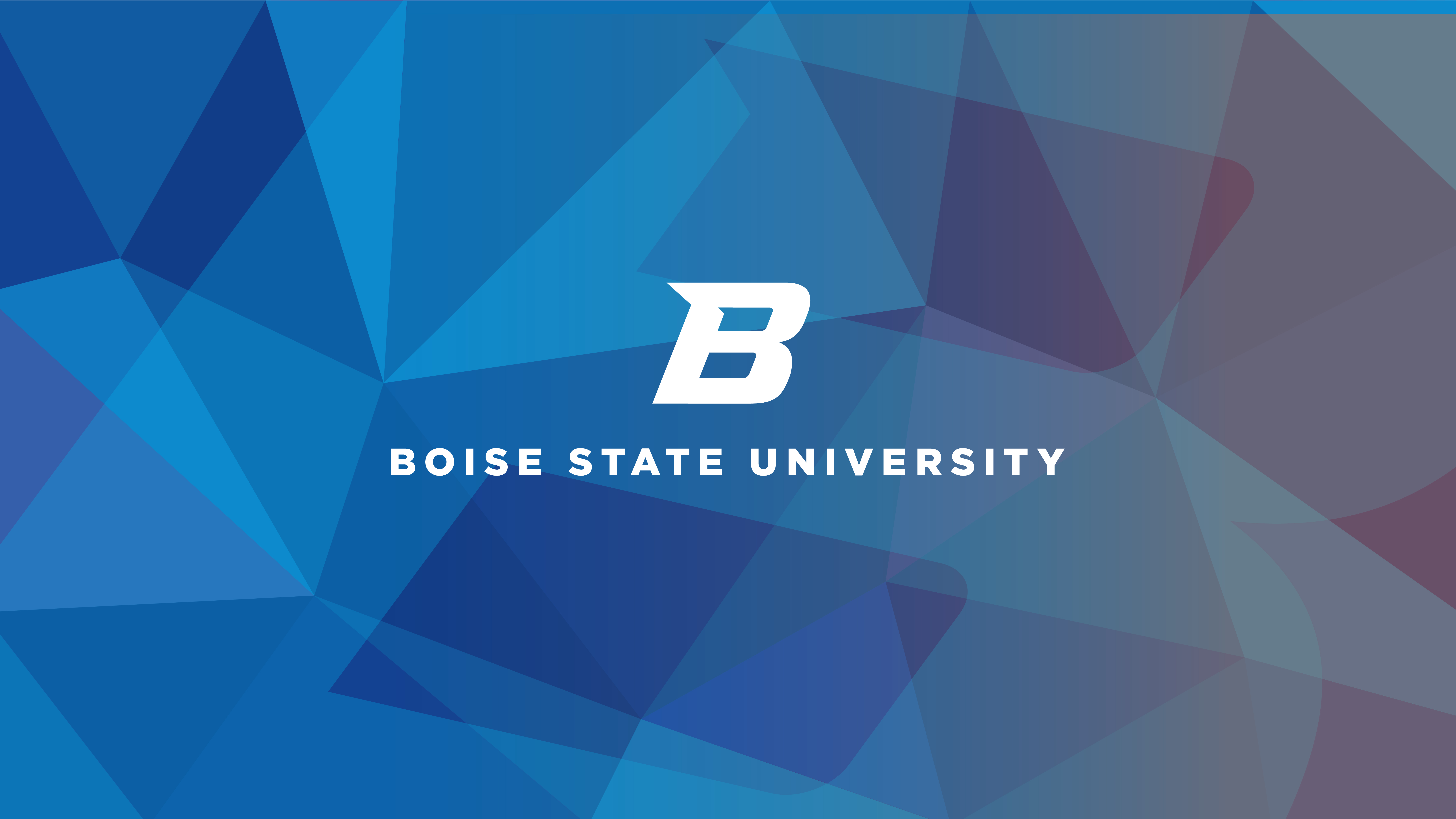 Boise State Blue Stained Glass Wallpaper