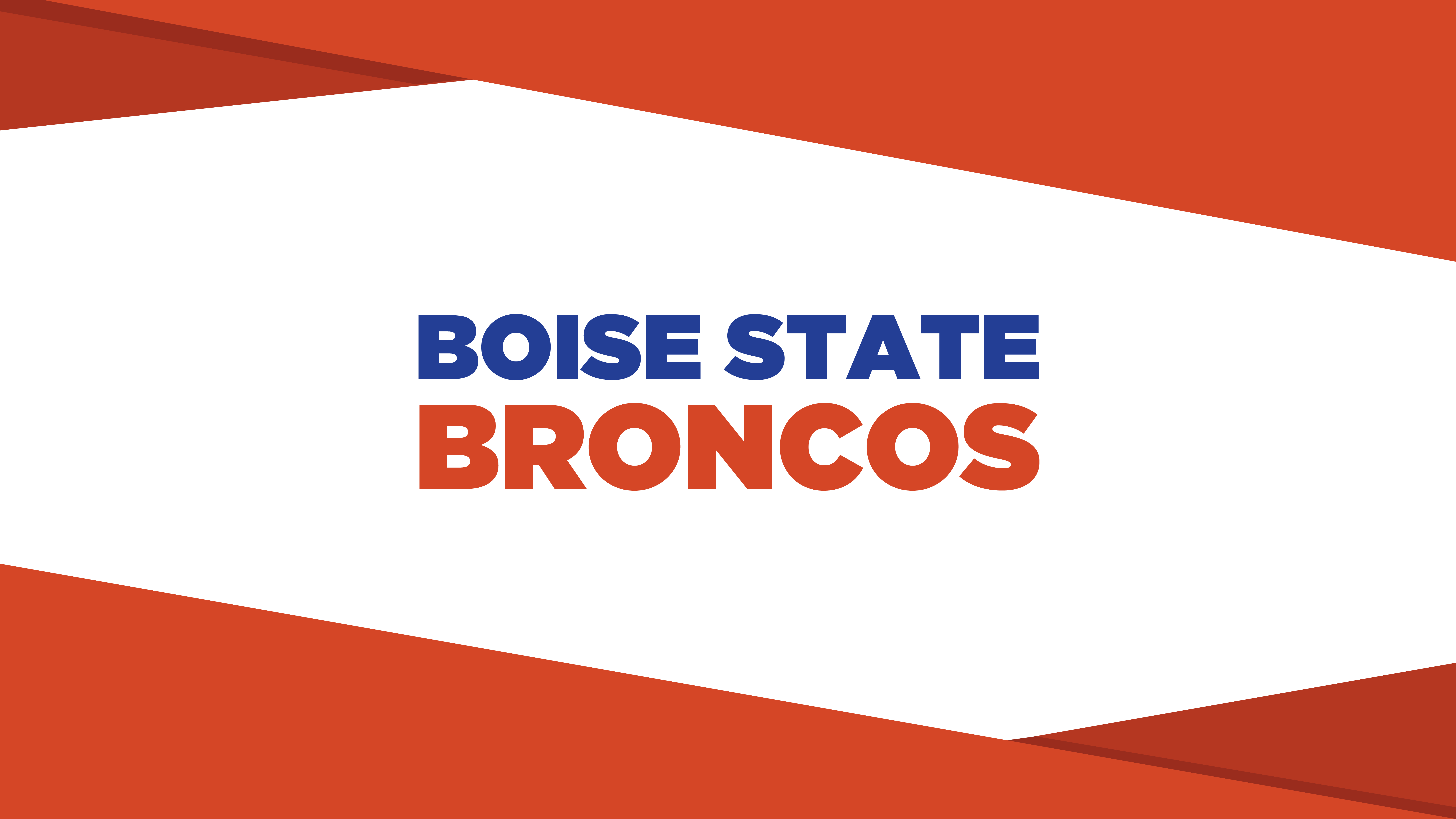 Boise State Broncos Orange and White Wallpaper