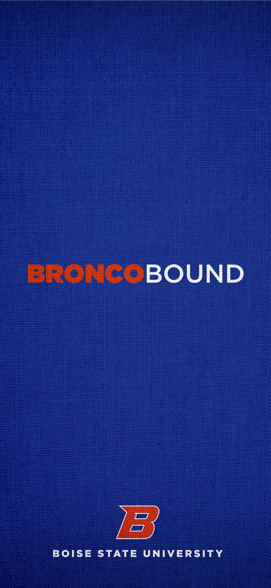 Bronco Bound blue background wallpaper