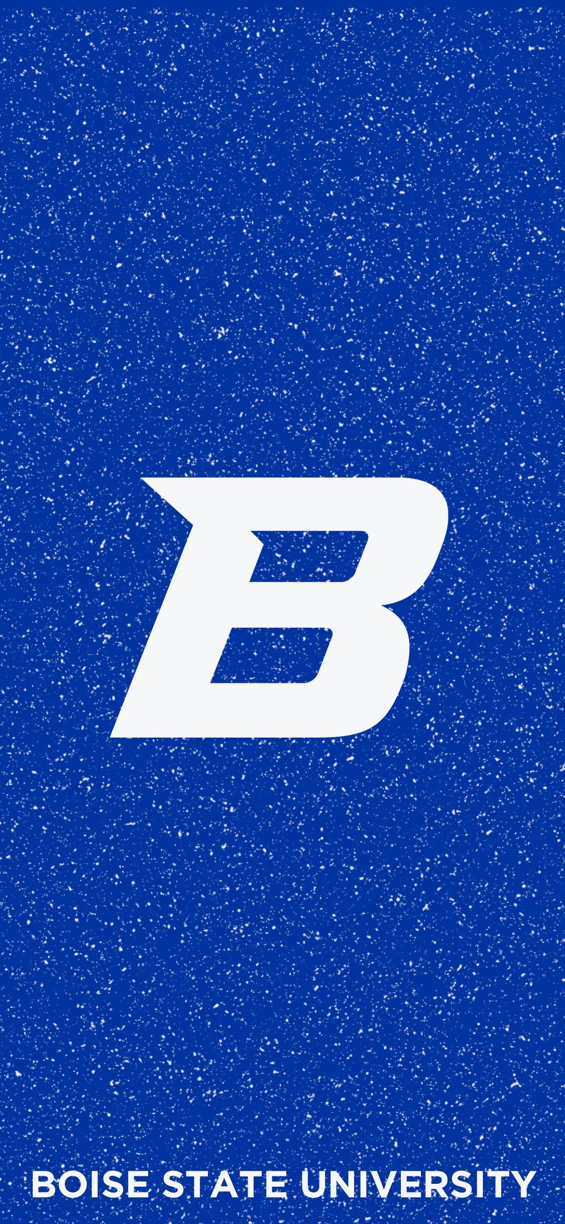 Boise State Blue Speckled Wallpaper