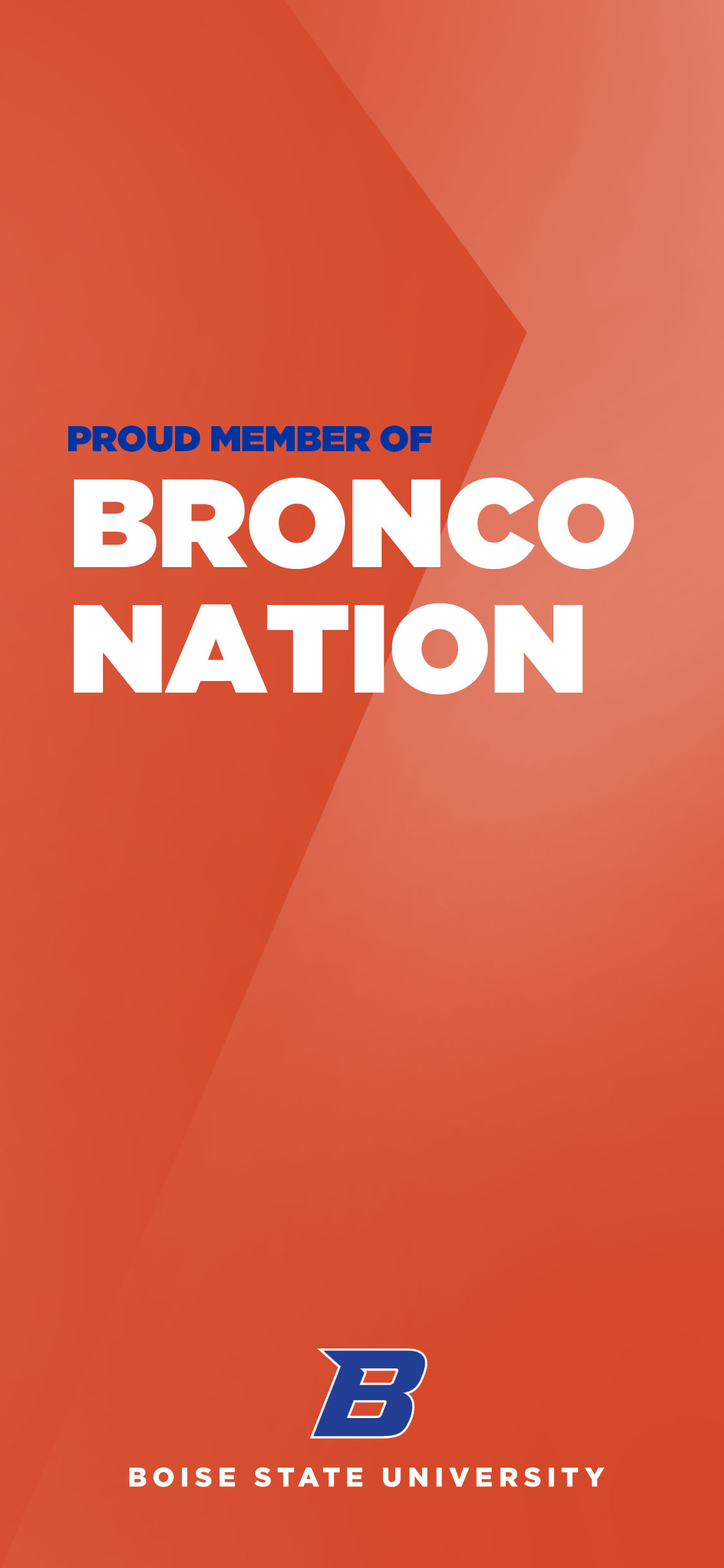 Proud Member of Bronco Nation Orange Wallpaper