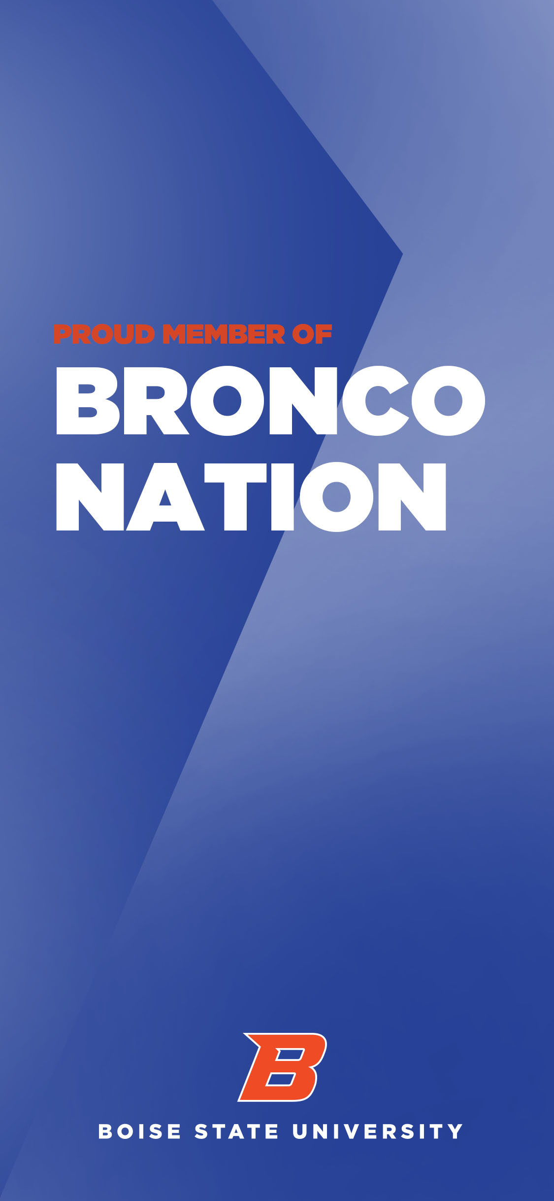 Proud Member of Bronco Nation Blue Wallaper