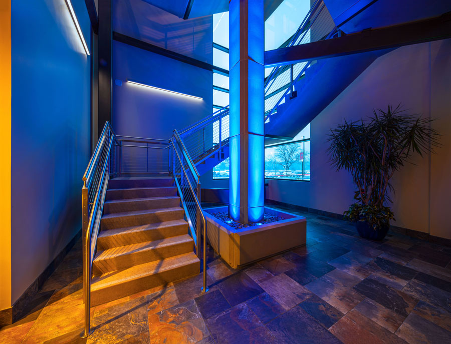 Lit up Stairwell