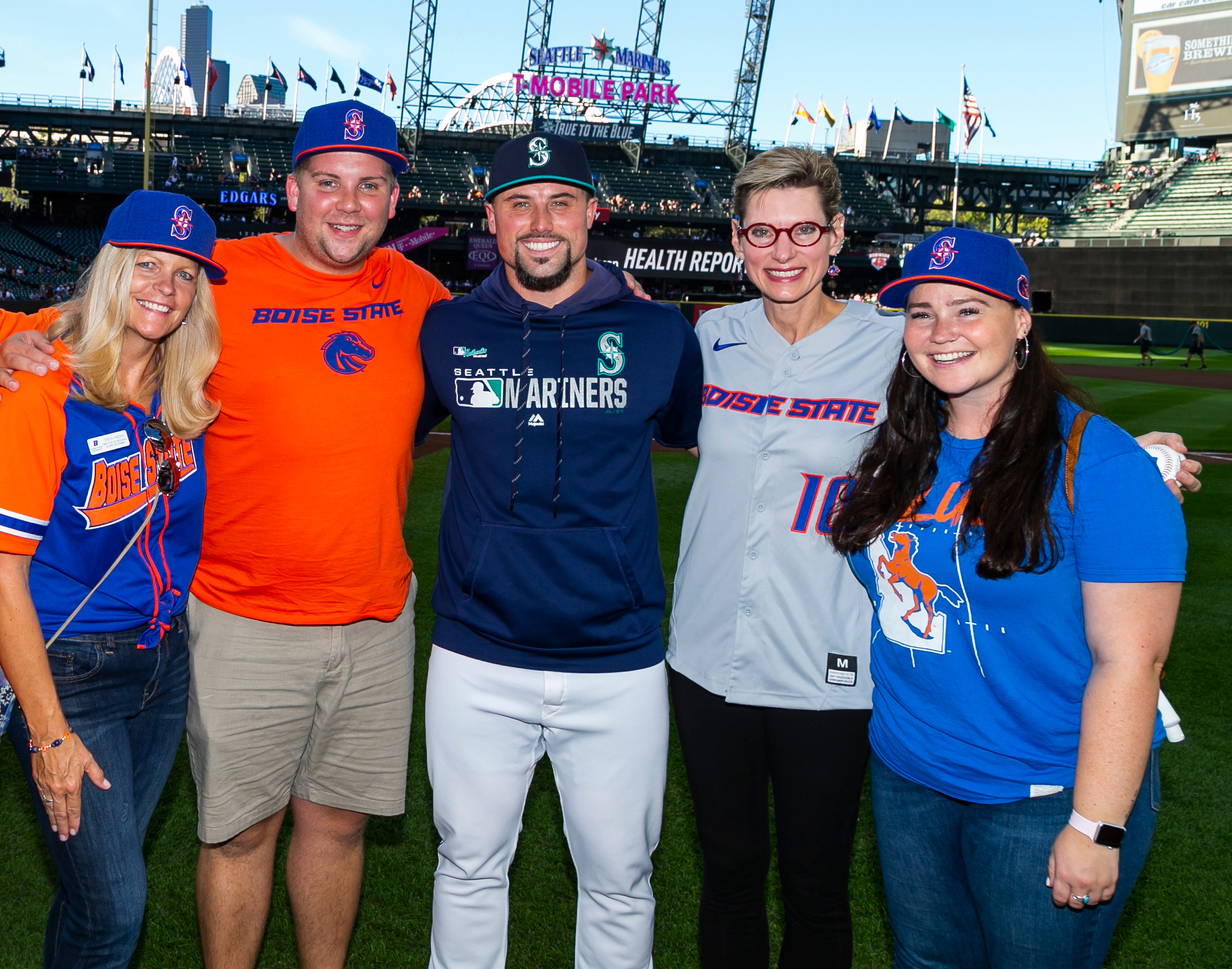 Dr. Tromp and fans at the Seattle Mariners