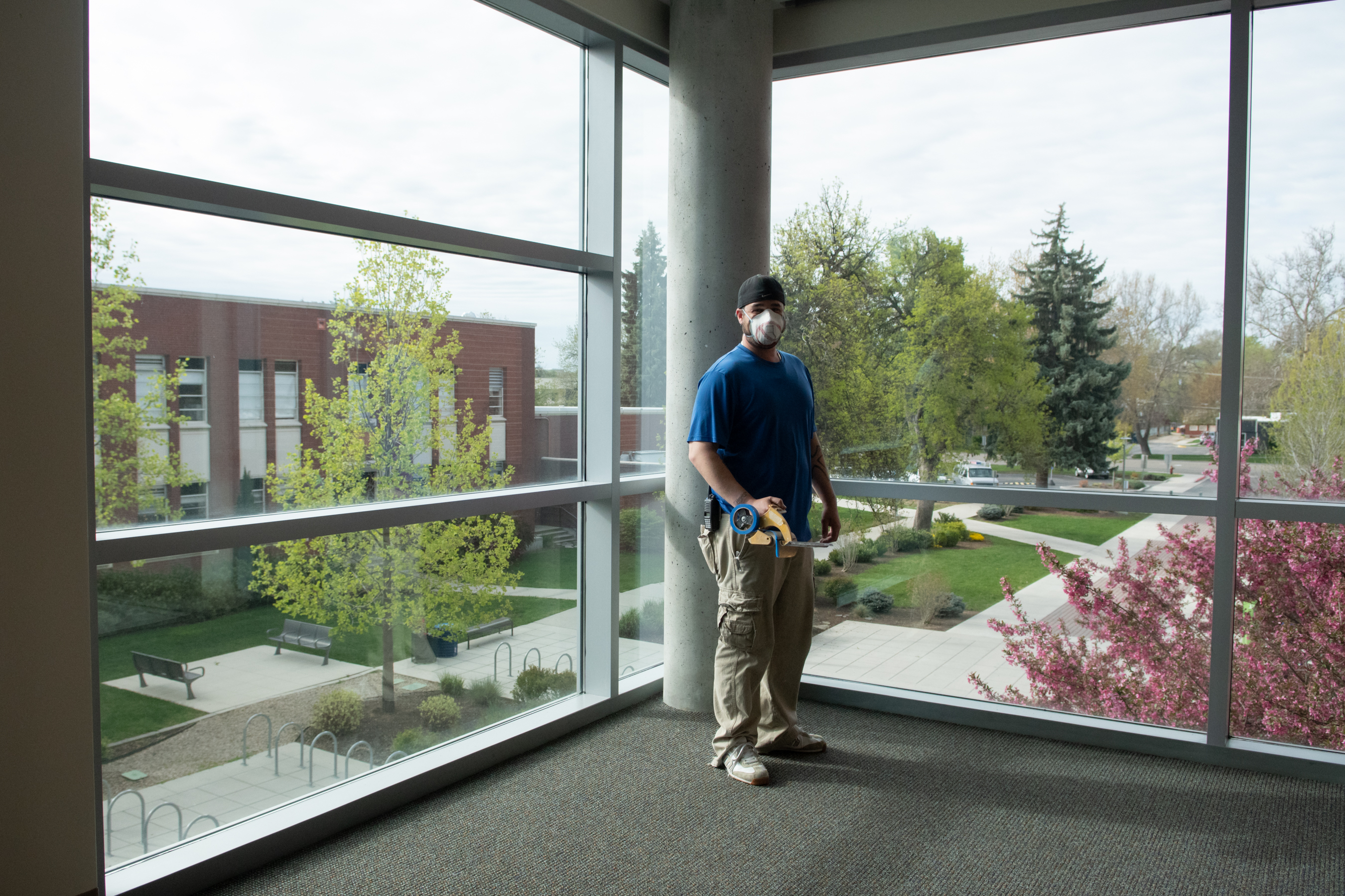 Charlie Ergersdorf is a machine craftsman who has worked on campus for nearly 10 years. He will be graduating from Boise State in May with a degree in business. Photo, Patrick Sweeney.