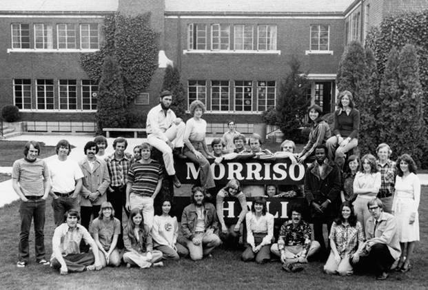 1970s Morrison Hall coed dorm