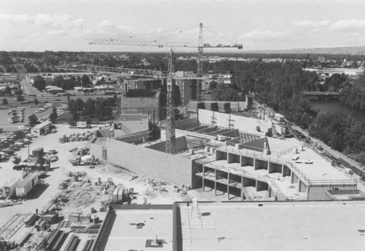 1980s Morrison Center construction