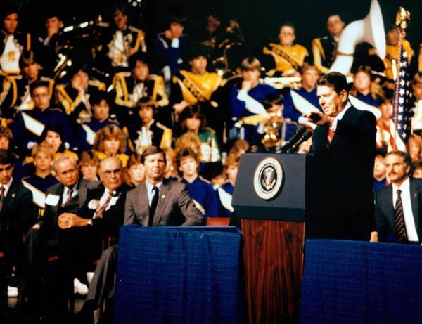 1985: President Ronald Reagan at Taco Bell Arena