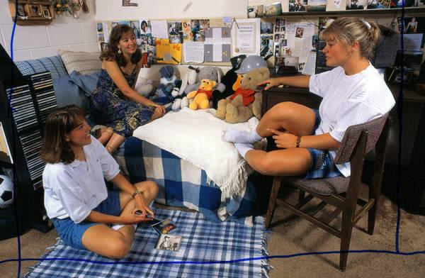 1990s Dorm life