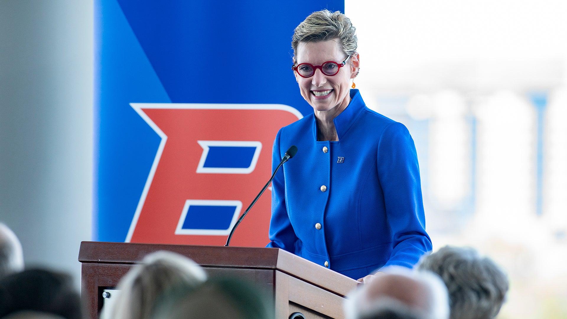 2019 Dr. Marlene Tromp becomes 7th university president