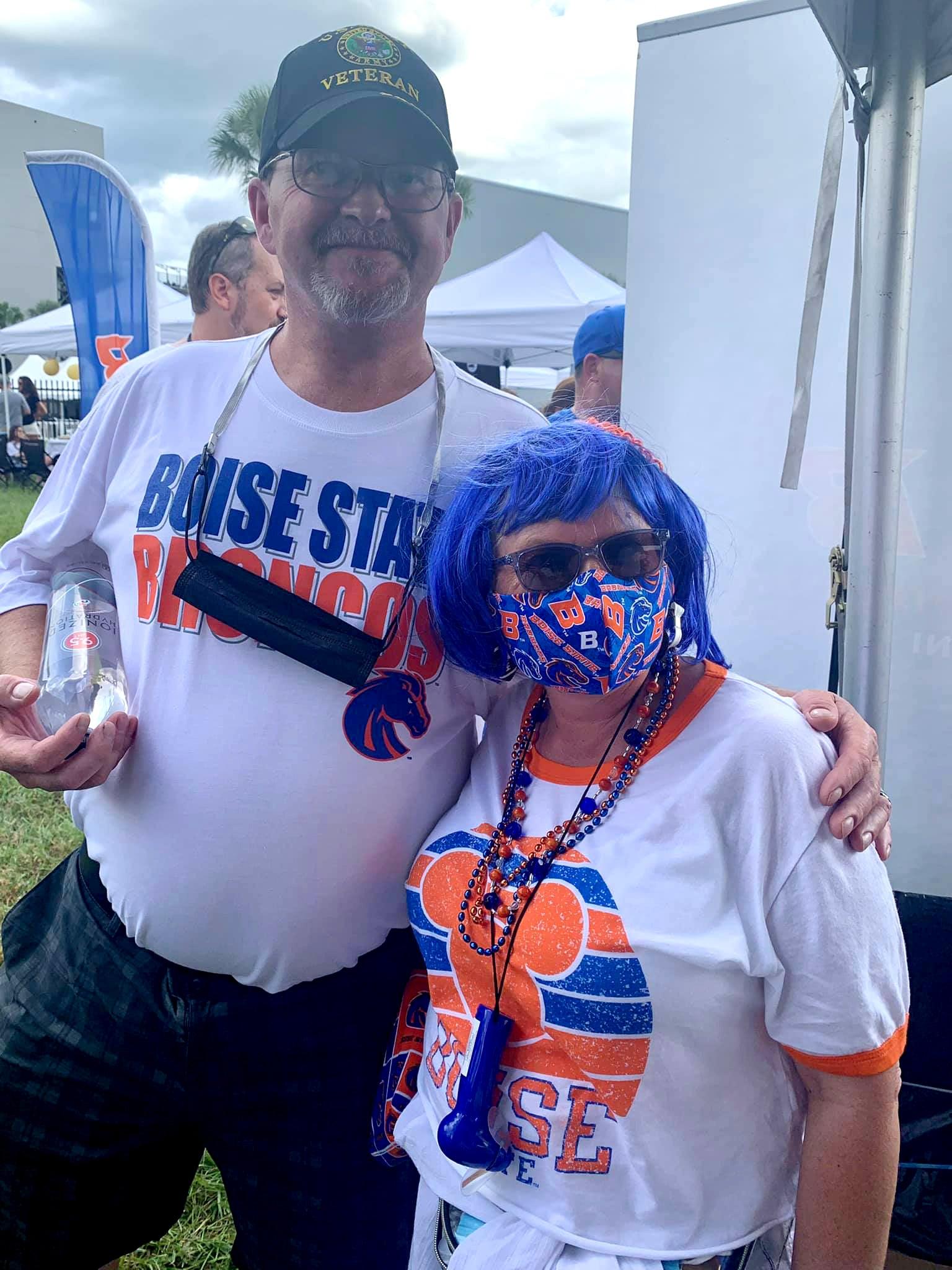 Boise State fans at Bronco Bash