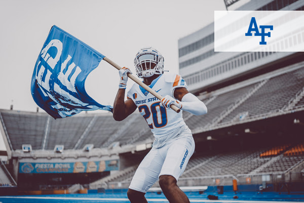 football player. with air force logo
