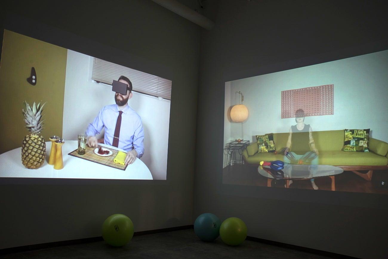 MFA exhibiton of video art