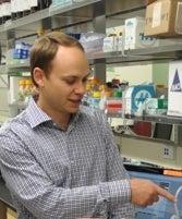 Dr. Eric Hayden in Lab