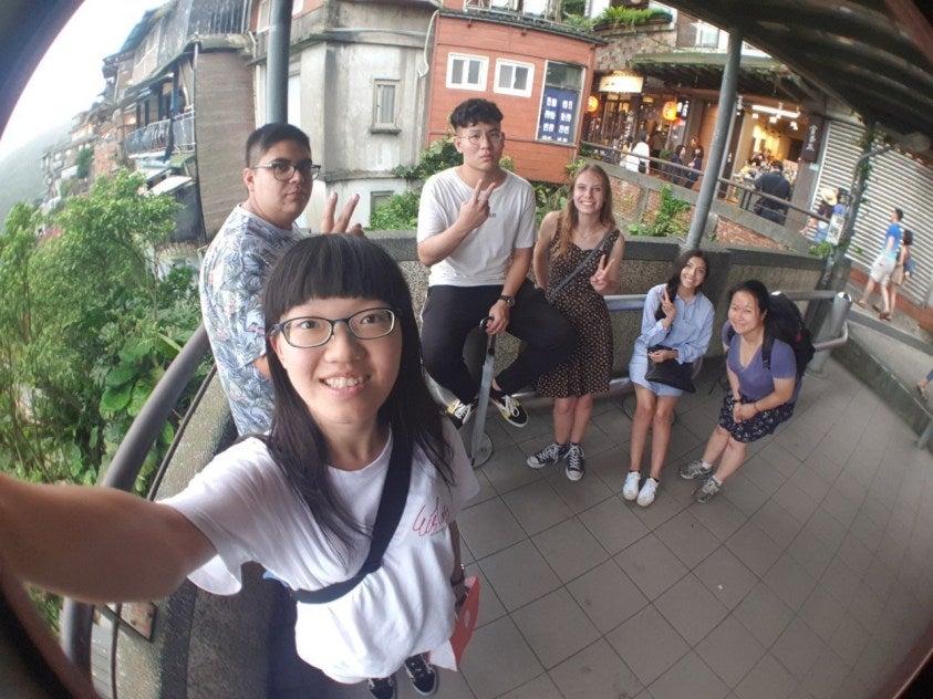 members at Jiufen Old Street