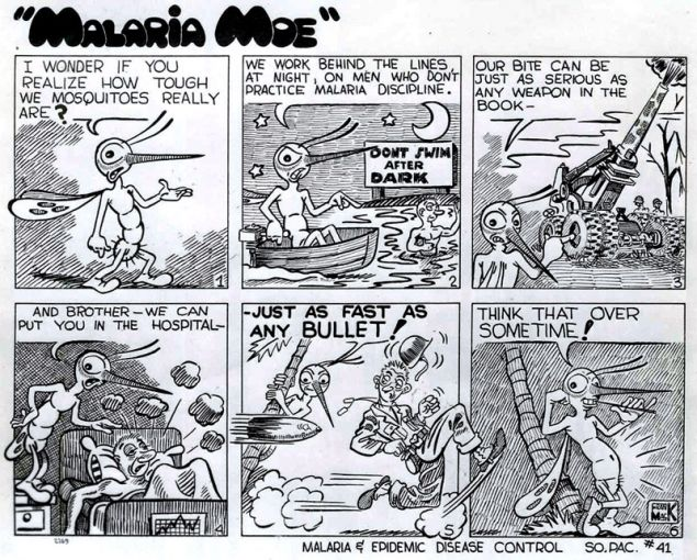 comic strip depicting a mosquito explaining how deadly they are