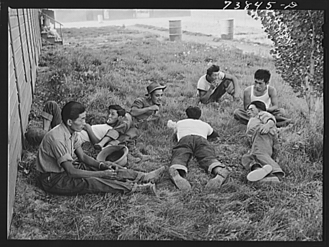 workers resting