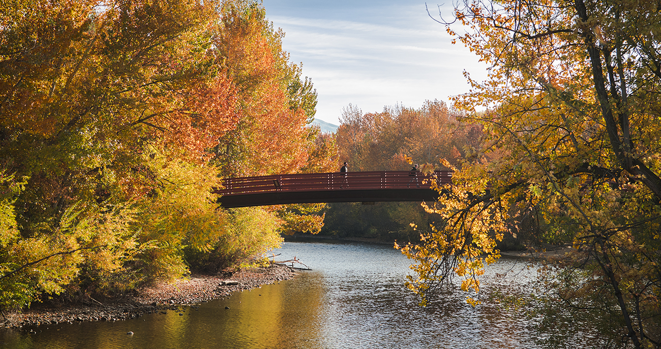 Friendship Bridge in the Fall
