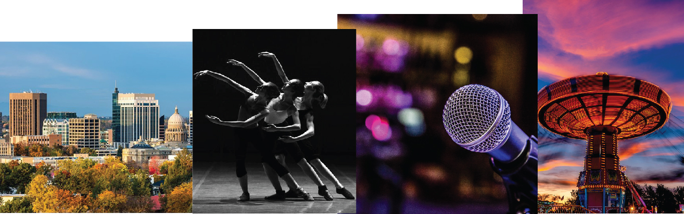 Photo montage of diverse Boise, ID activities