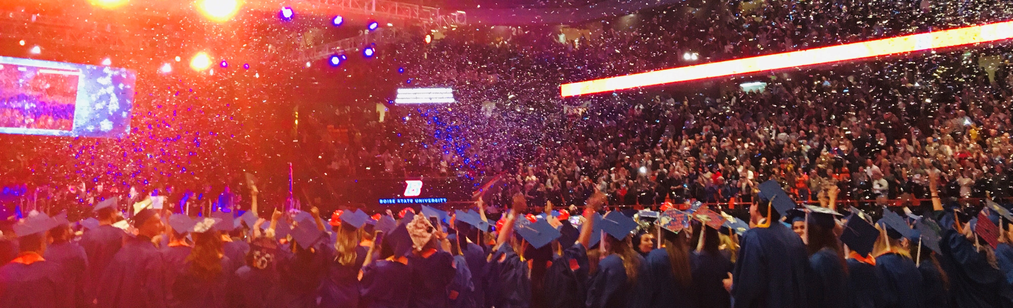 Student celebration at 2019 Winter Commencement