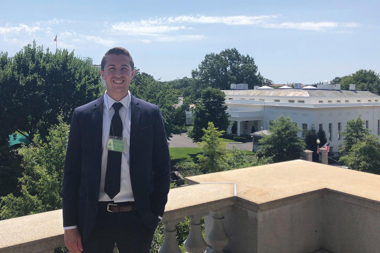Wischer_Greg Wischer at the West Wing of the White House