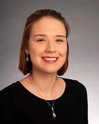Emily Whitney, COBE Outstanding Graduate,  Studio Portrait by Priscilla Grover