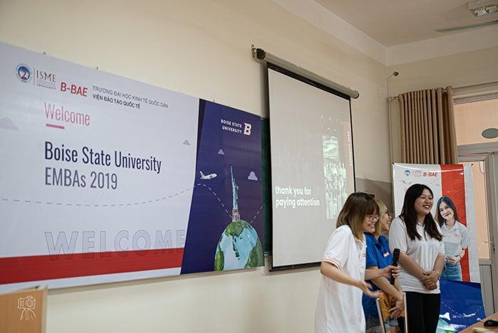 National Economic University students present to the executive MBA cohort.