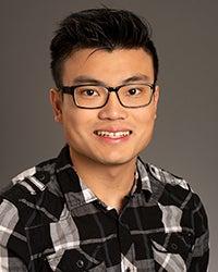 Nguyen Thaii, COBE Outstanding Graduate, studio portrait by Priscilla Grover