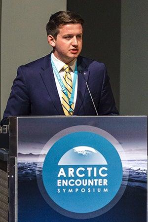 jackson blackwell speaking at Arctic encounter symposium