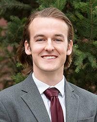 Josef Sandahl Portrait, Outstanding Graduate, Photo by Emma Thompson