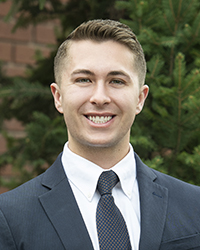 Greg Wischer Portrait, Outstanding Graduate, Photo by Emma Thompson