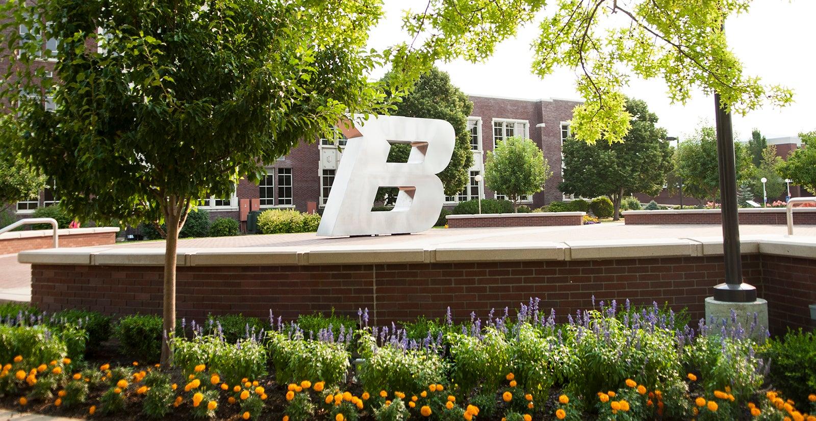 Boise State B Statue