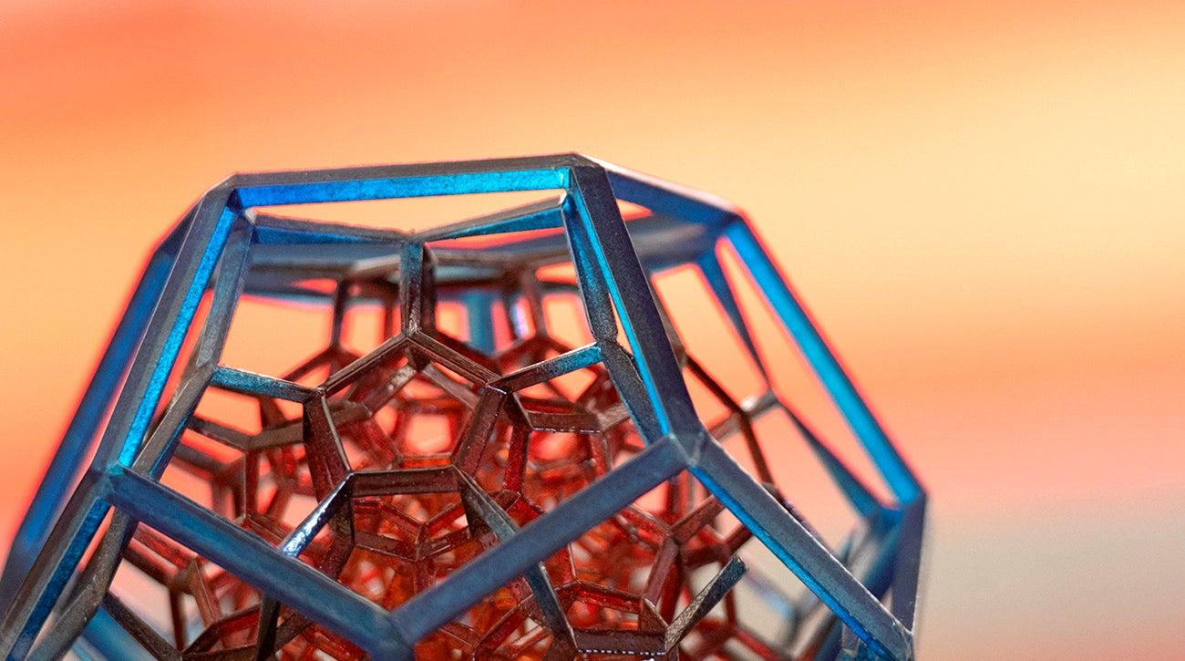 Close-up shot of a 3D model.