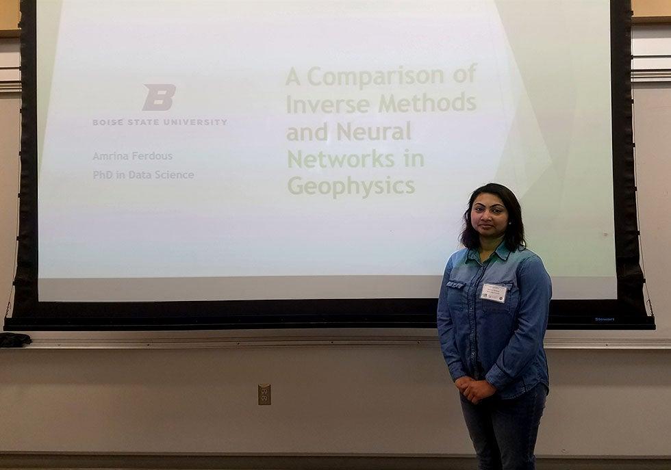 Amrina Ferdous presenting