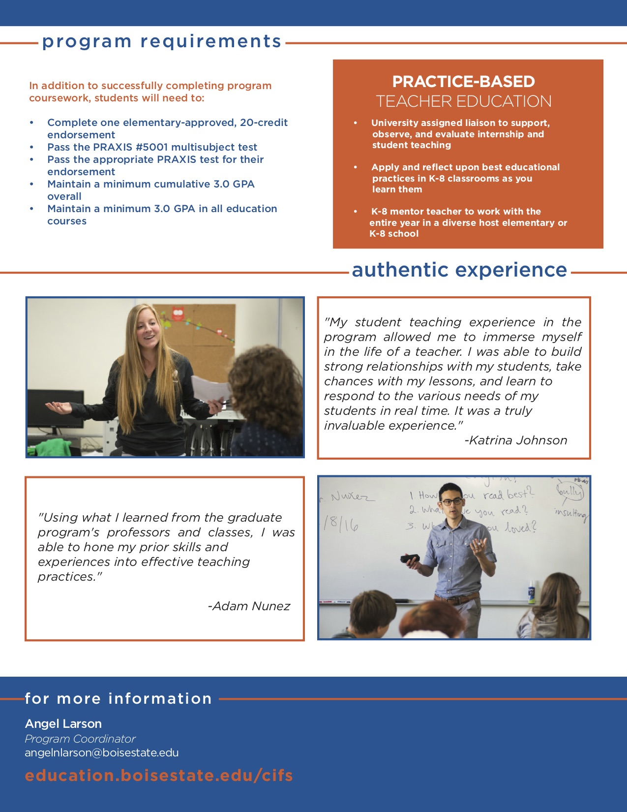 Visual Advising Guide for the Master in Teaching in Elementary Education
