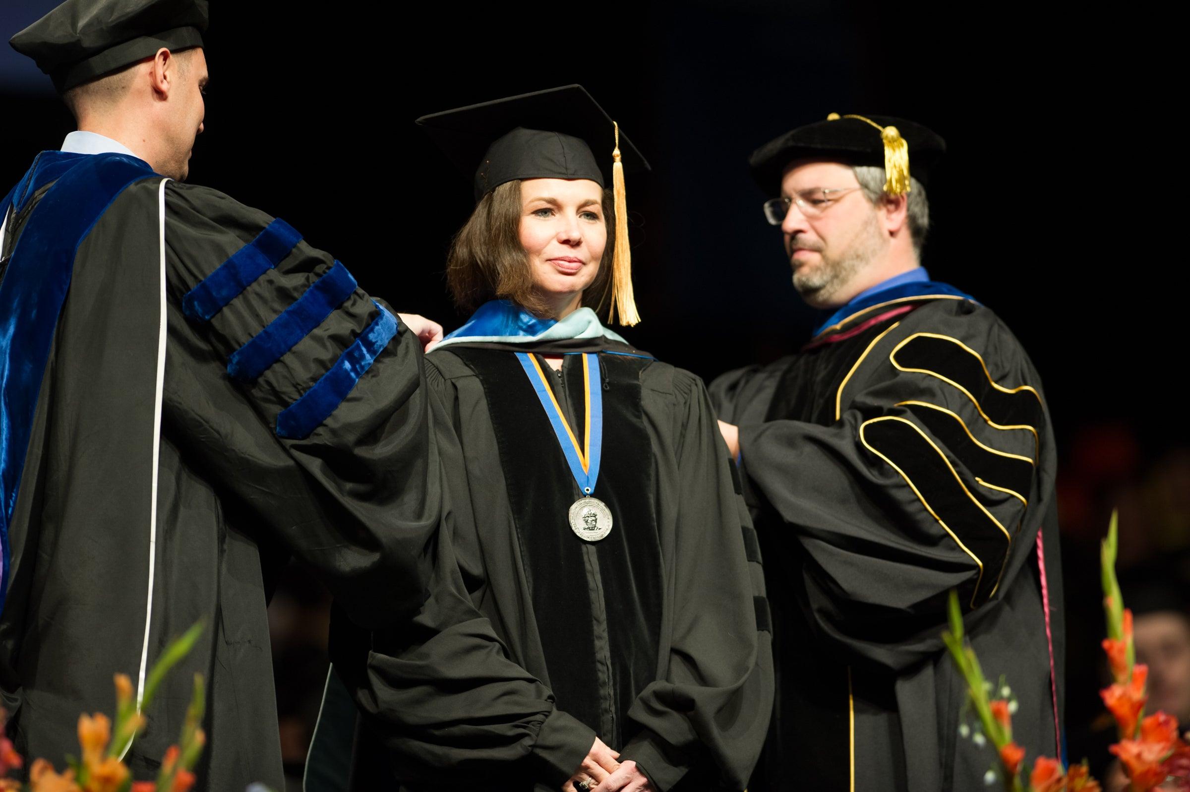 Spring Commencement, Graduation, John Kelly photo.