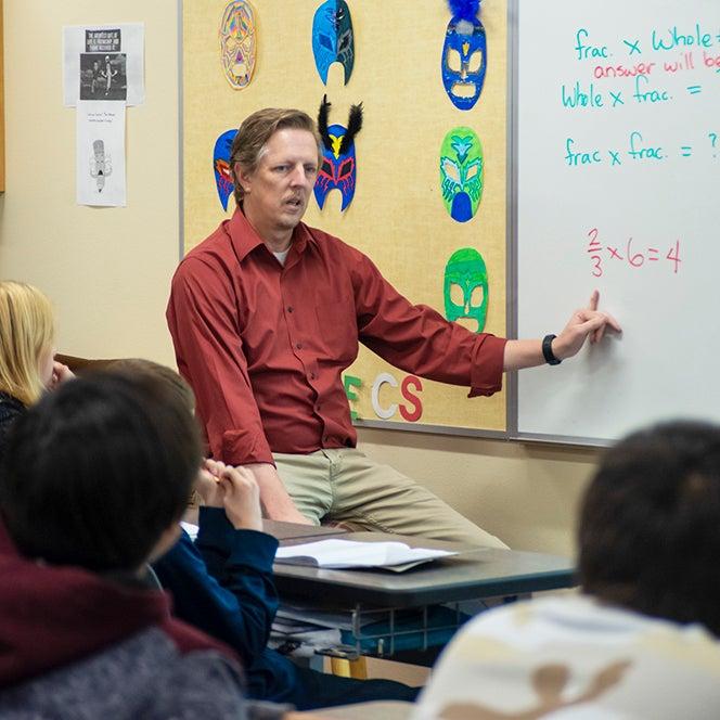 Rich Smith teaching sixth grade math