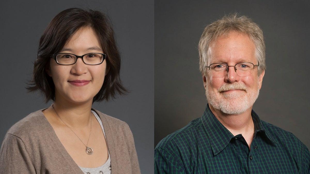 Yu-Hui Ching, left; Carl Siebert, right