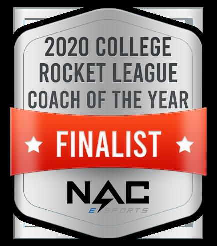 2020 College Rocket League Coach of the Year Finalist NAC eSports