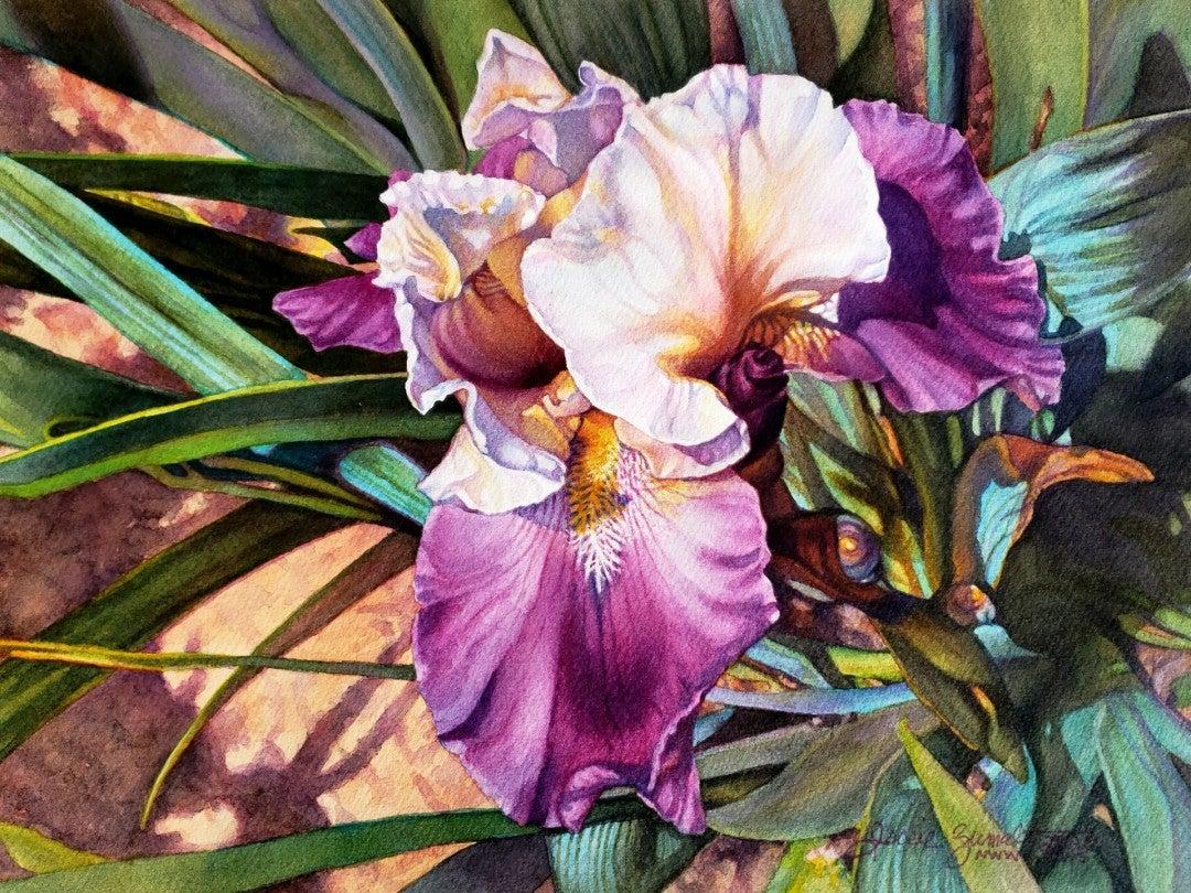 Jackie Zumwalt, Backyard Lovely, watercolor on paper