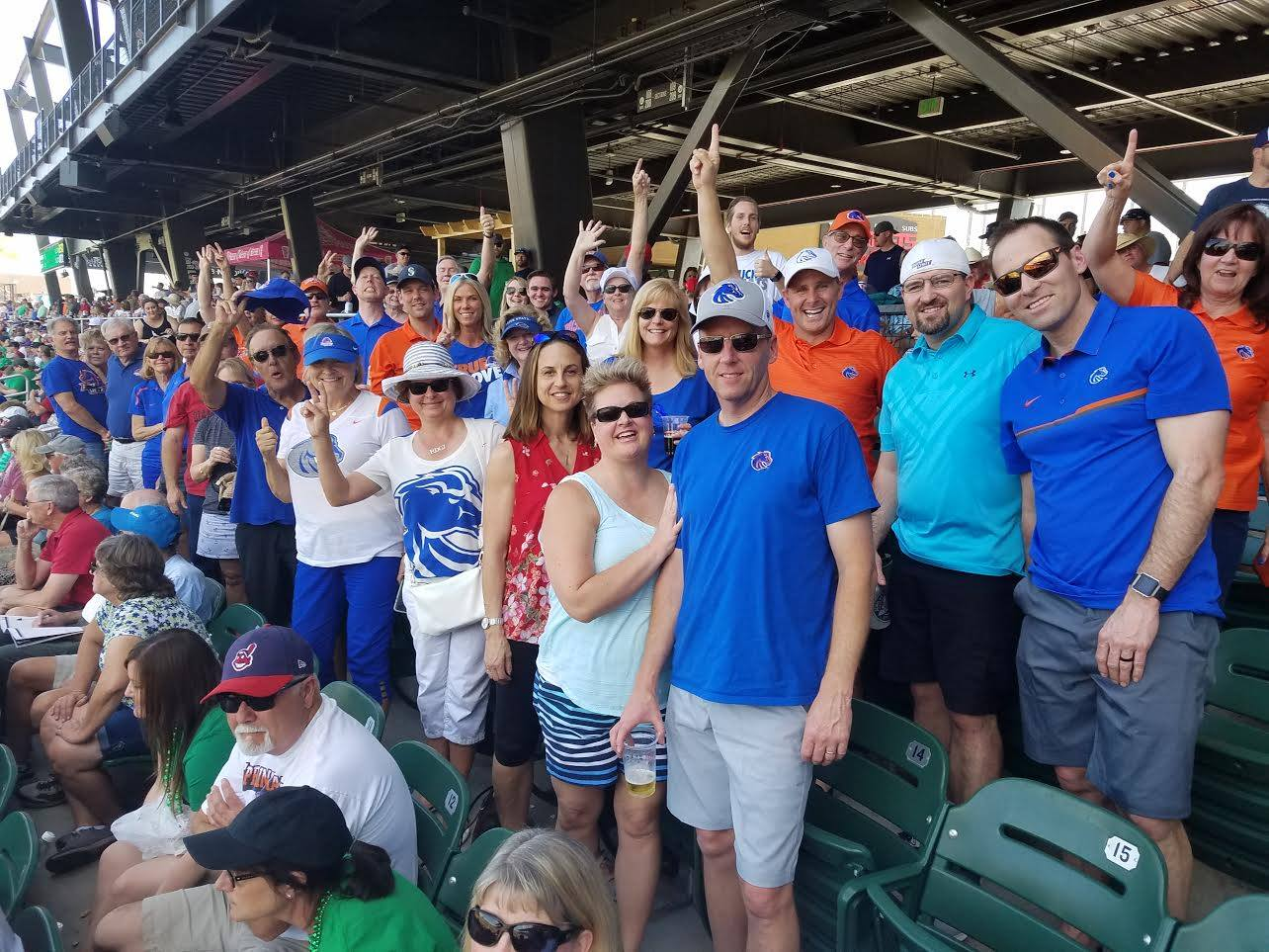 Boise State Fans at Baseball game