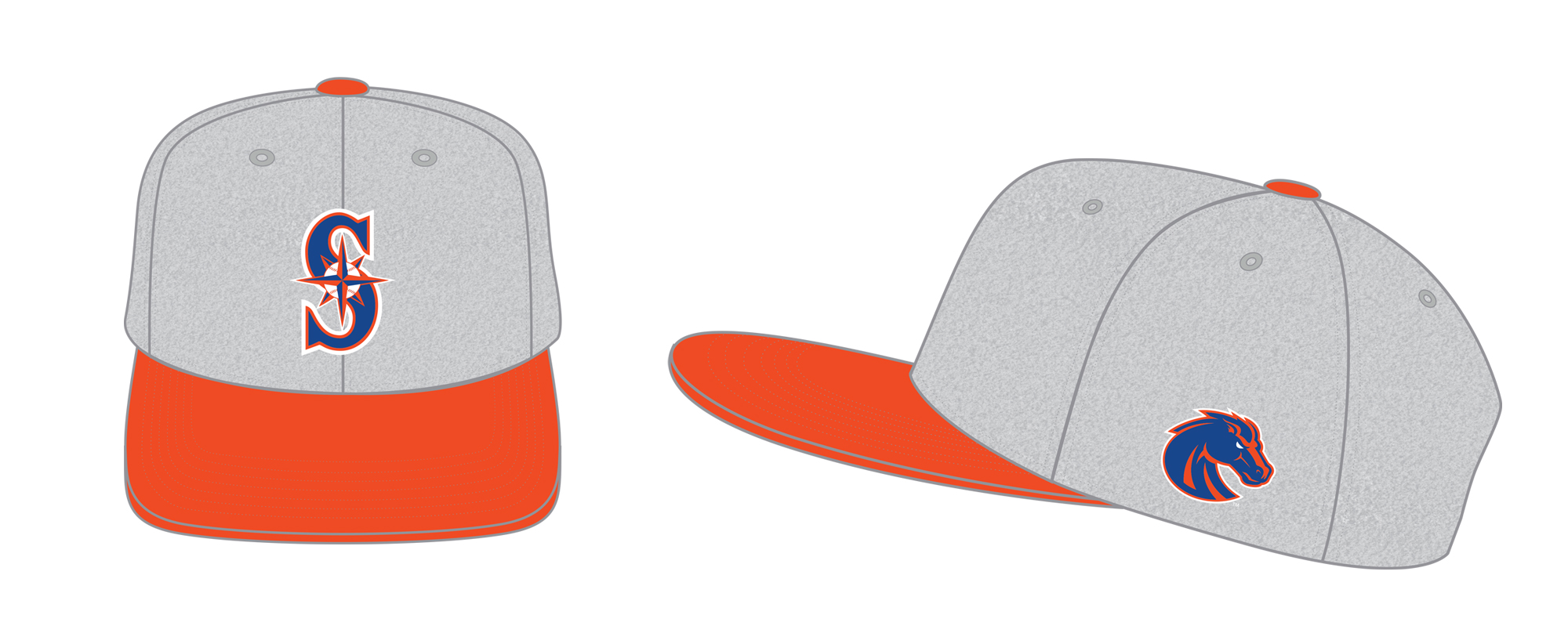 co-Branded Boise State and Mariners Hat