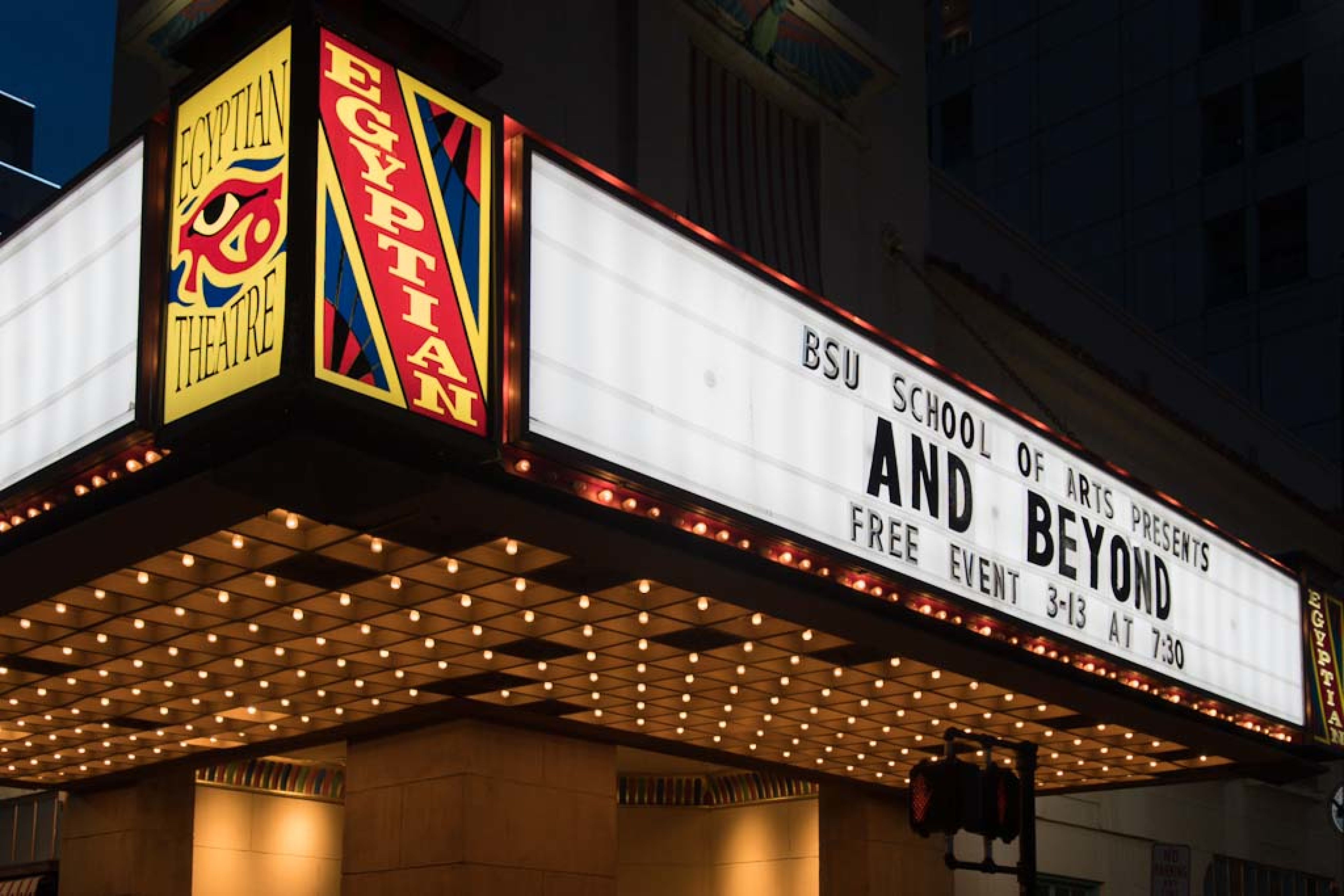 The Narrative Television Initiative, part of Boise State's Film and Television Arts program, screened its project And Beyond at The Egyptian Theatre in 2018.