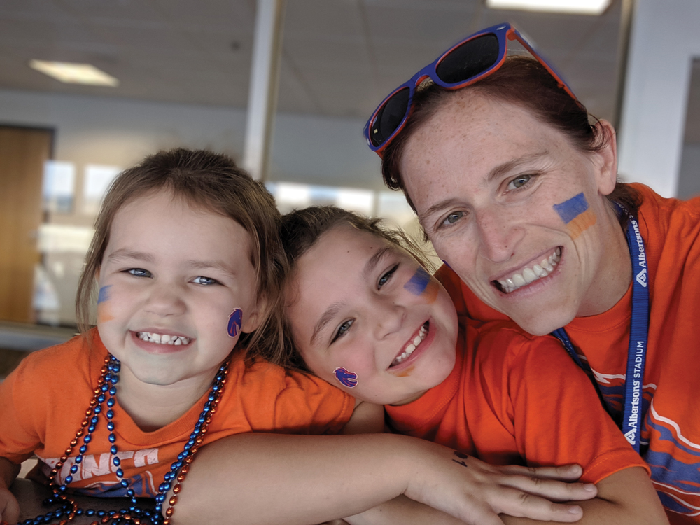 Heather Carlson and her daughters