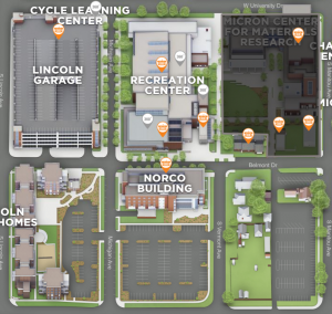 Open in Campus Maps to view Norco Building