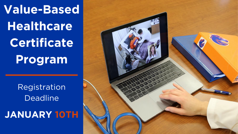 Value-Based Healthcare Certificate Registration Deadline January 10