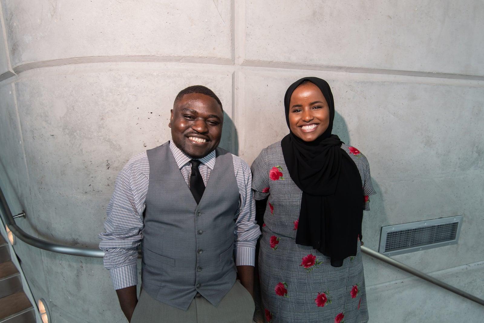 From left: Shukuru Kamulete and Halima Hamud, photo Patrick Sweeney