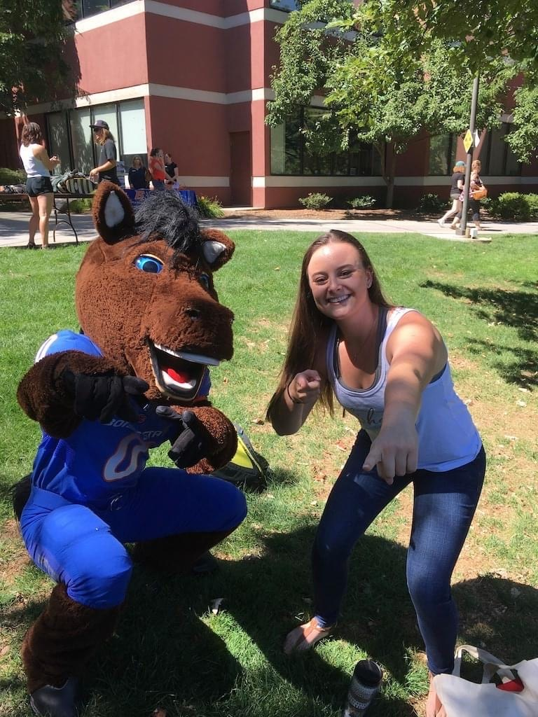 Erica with Buster Bronco