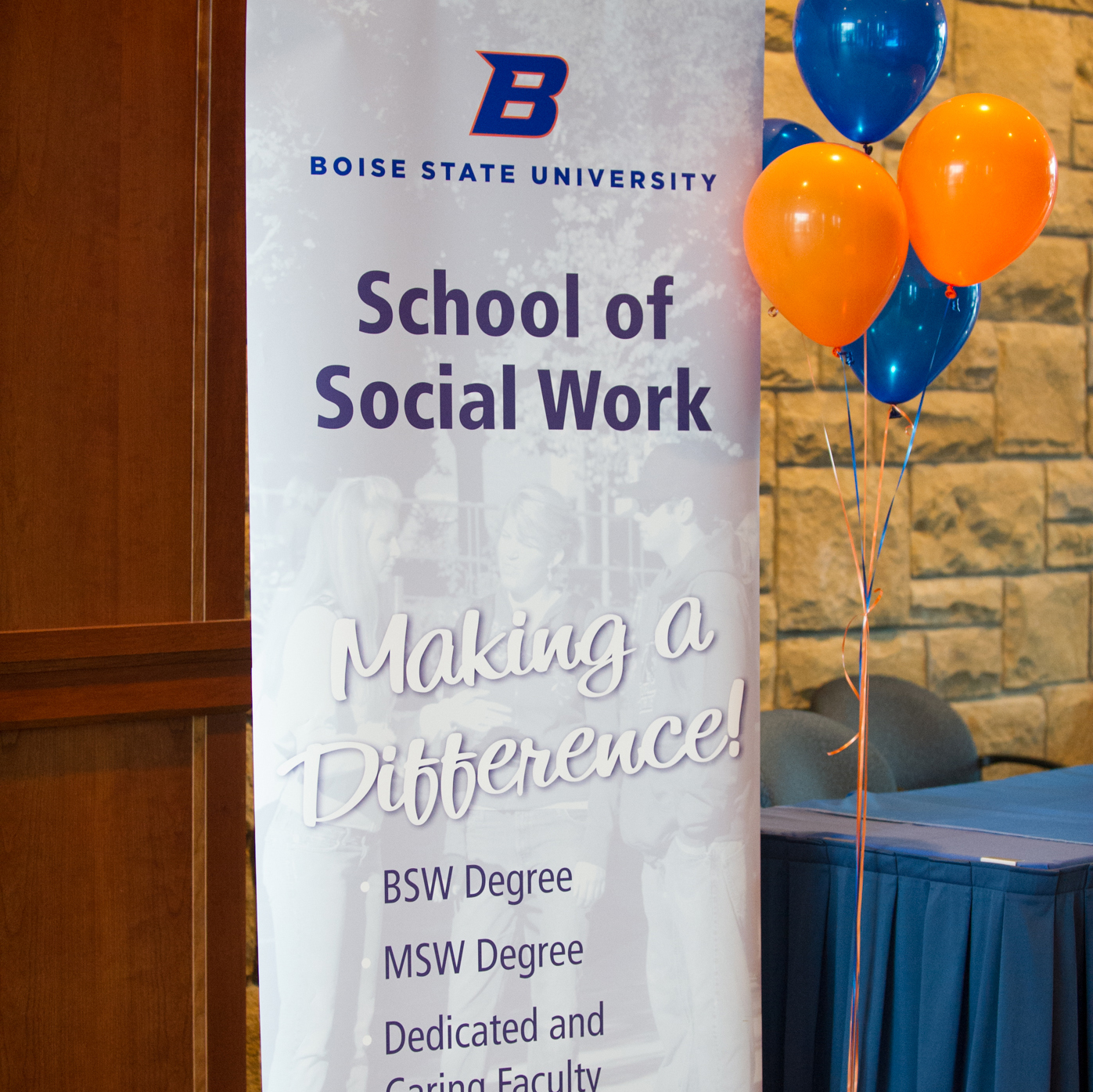 School of Social Work, National Social Work Month Celebration, Allison Corona photo.
