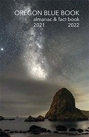 Book cover, Oregon Blue Book almanac and fact book 2021-2022
